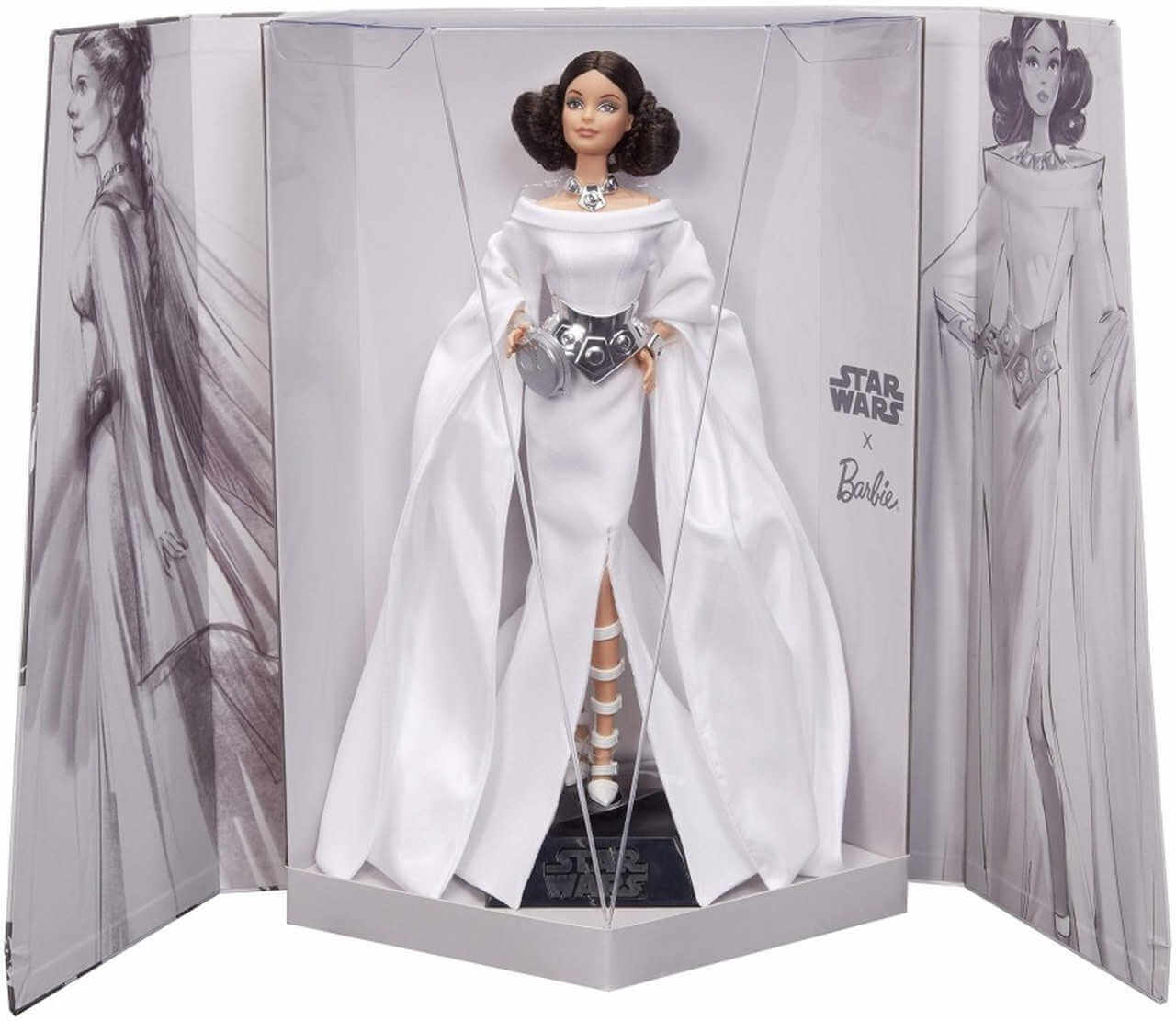 Barbie star wars princesa leia en caja