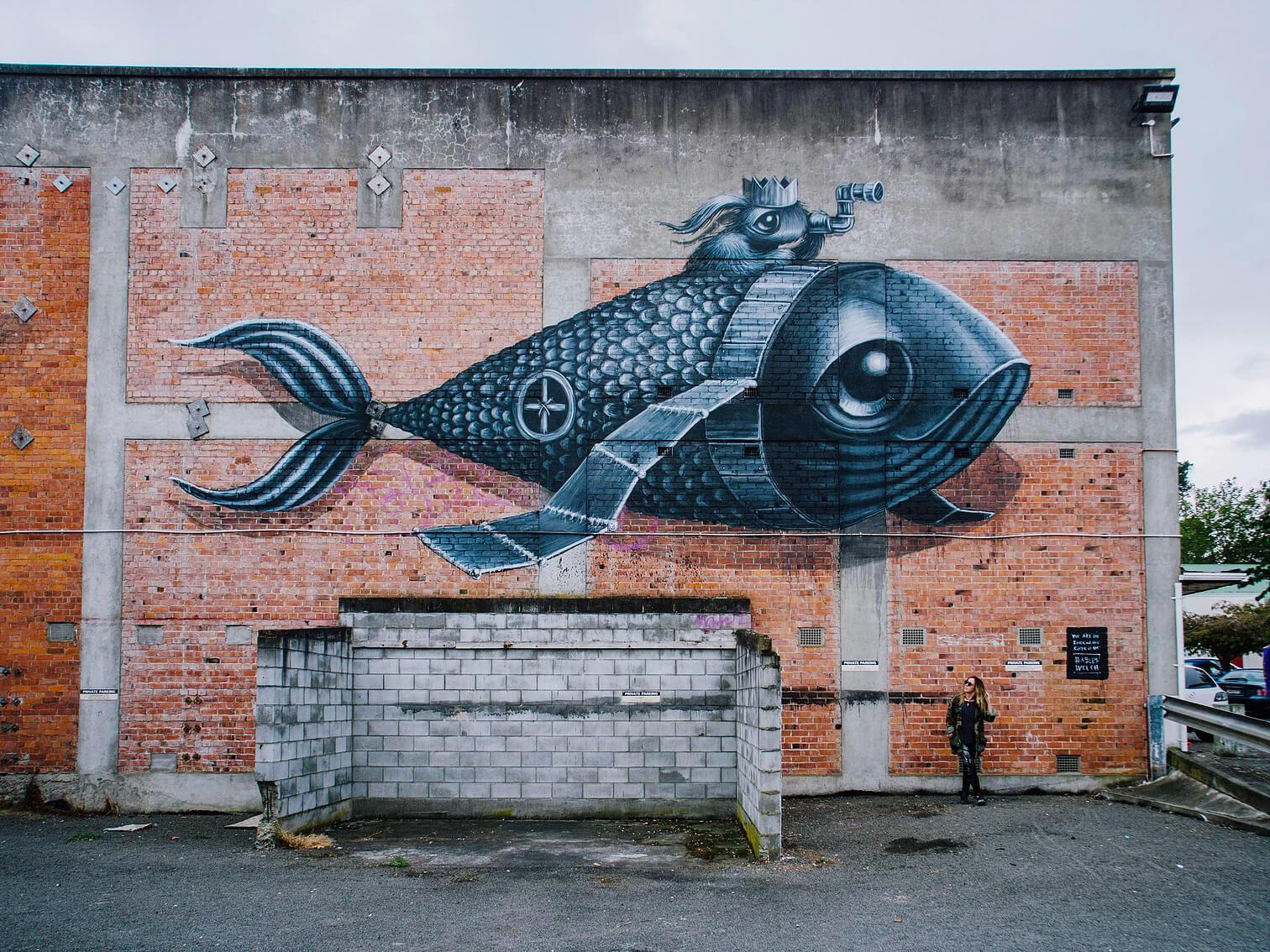 enseñanzas del mar arte callejero hayley welsh