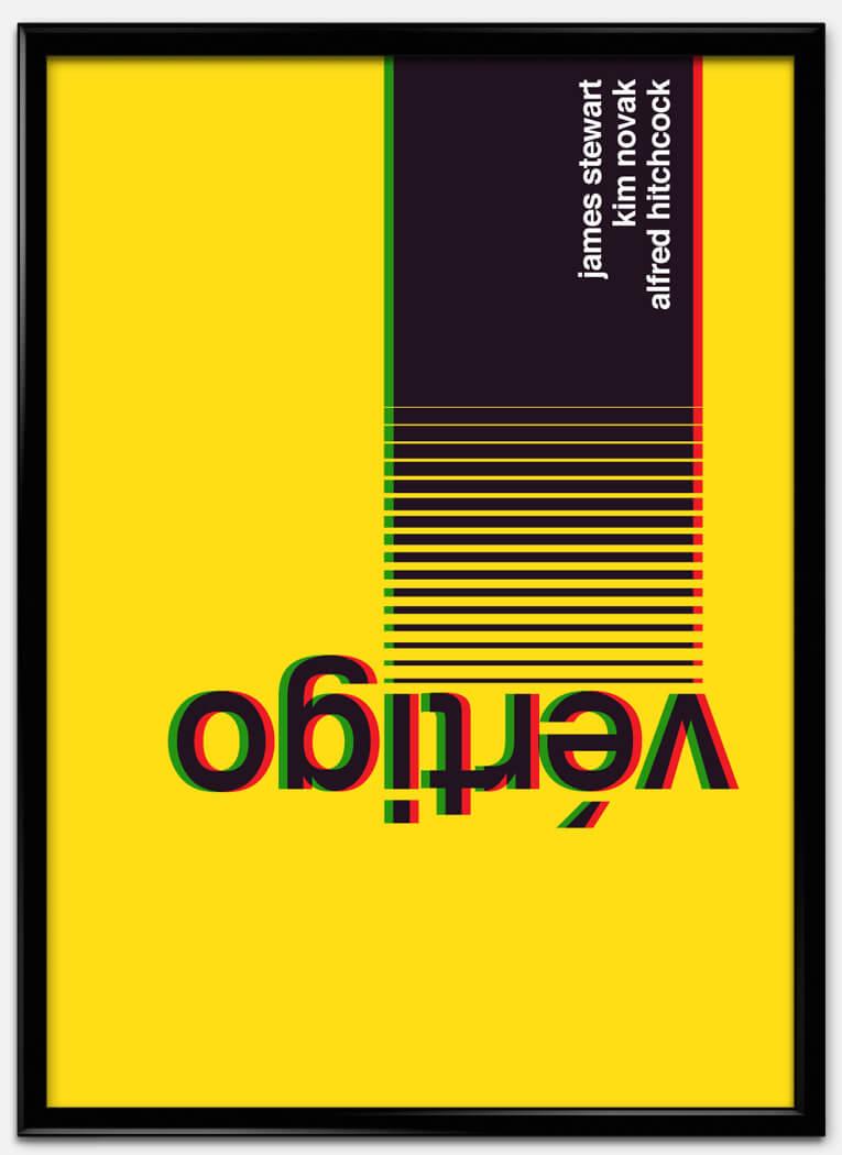 estilo tipográfico internaiconal, cartel de pelicula vertigo