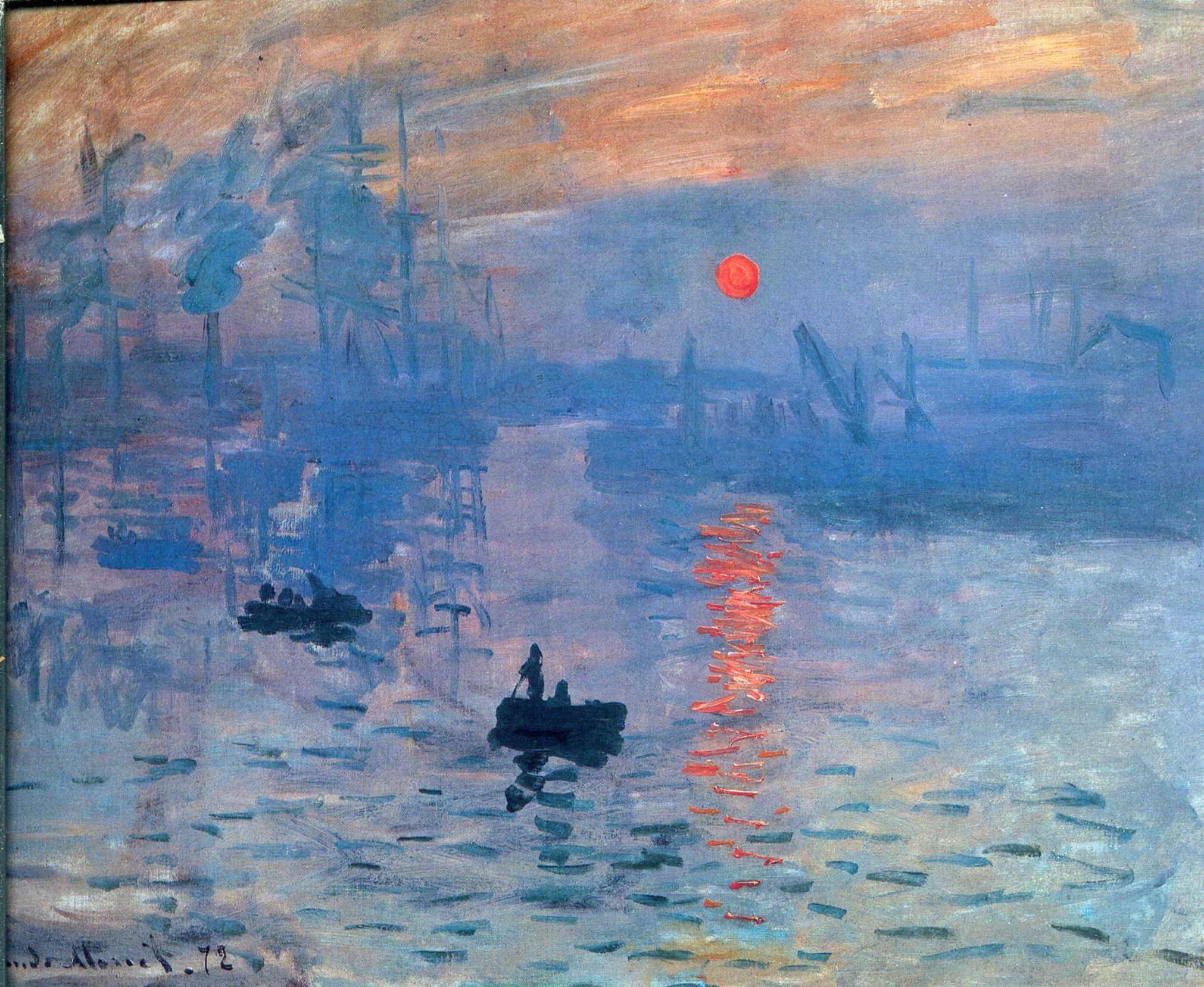 el sol naciente, cuadro de Monet que dio inicio al impresionismo