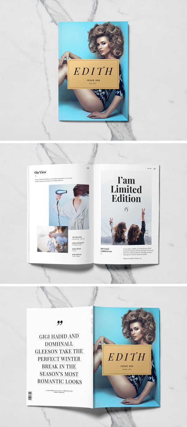 Mockup de revista gratis portada e interior