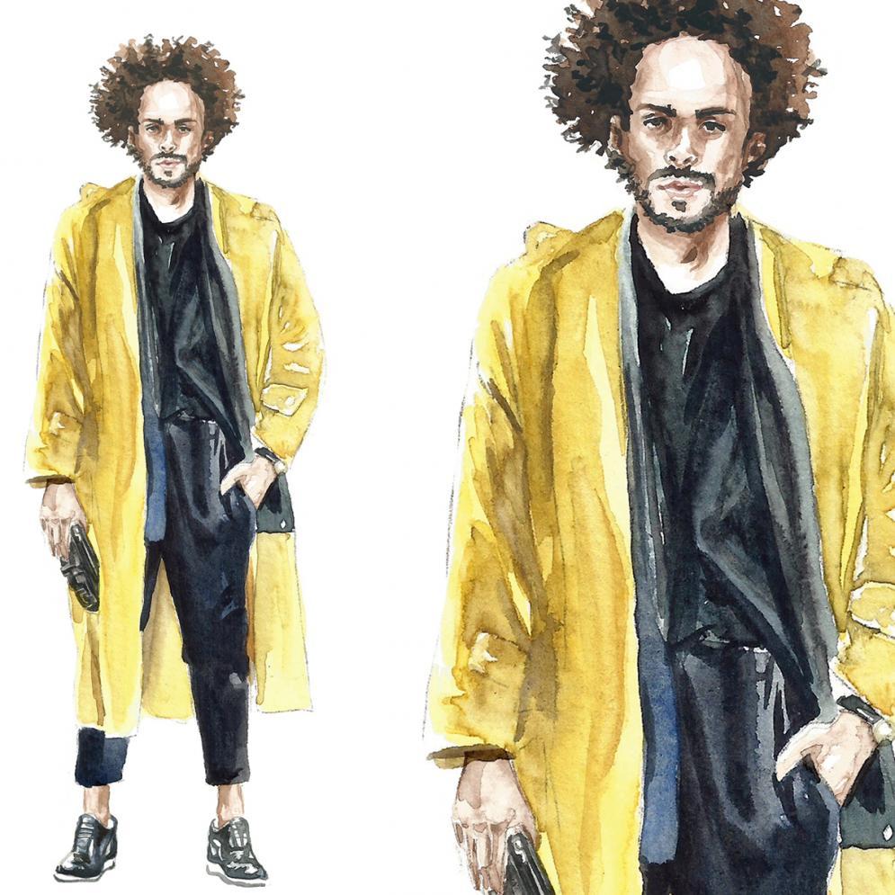 acuarela realista de moda