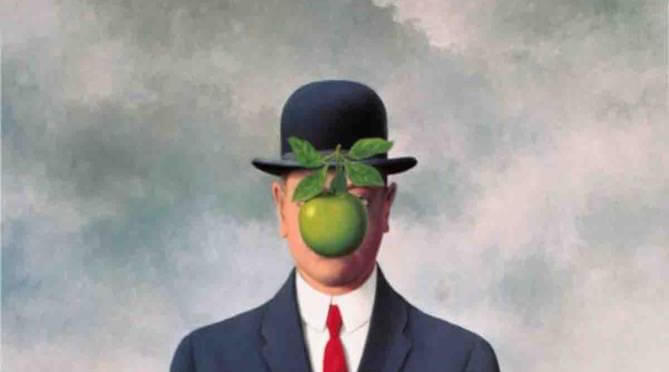 obra insignia de magritte hombre con manzana