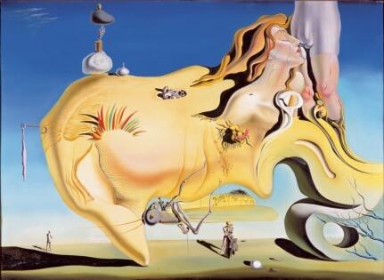 Obra de salvador Dali derretido