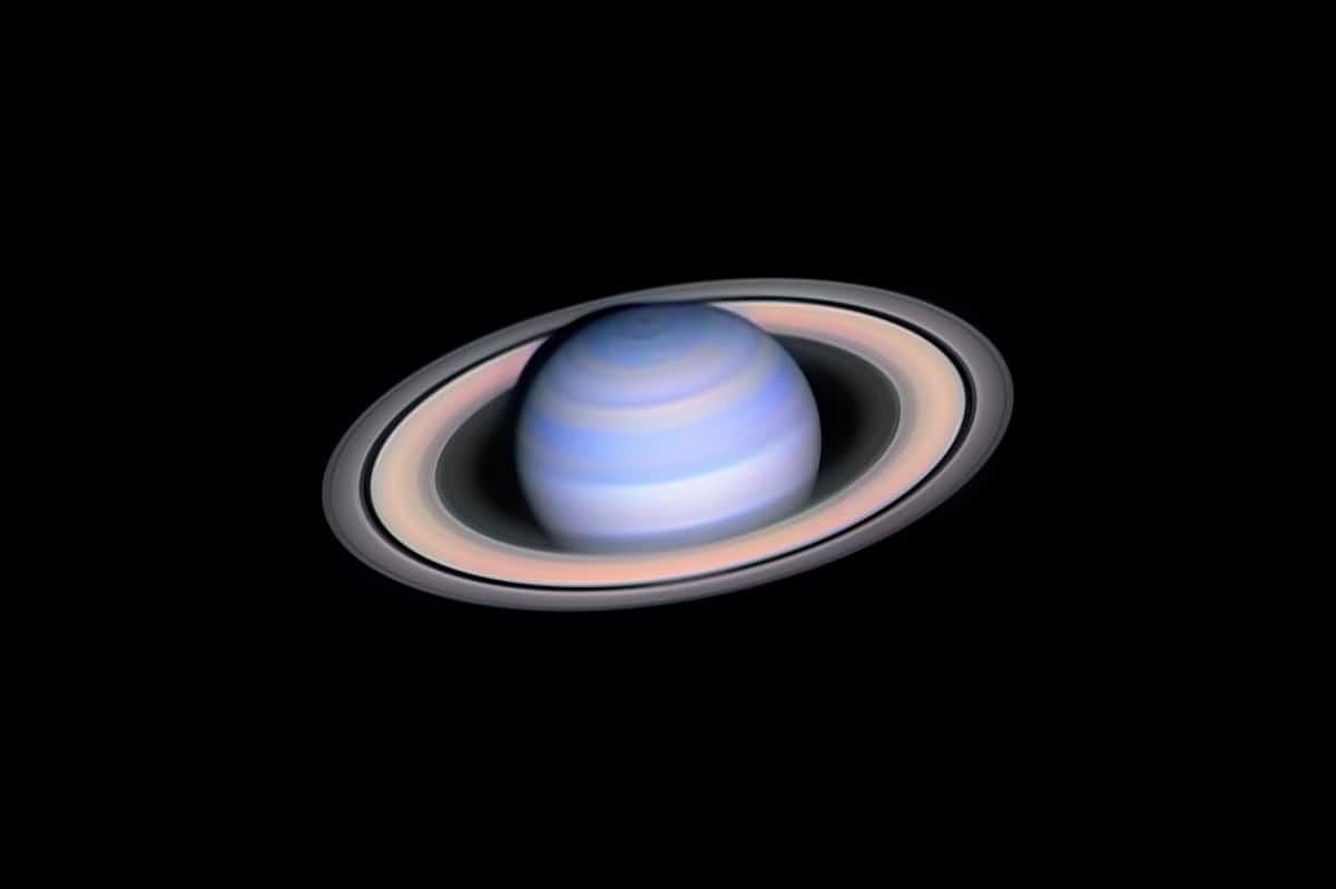 Fotografía astronómica Infrared Saturn por László Francsics (Hungría)