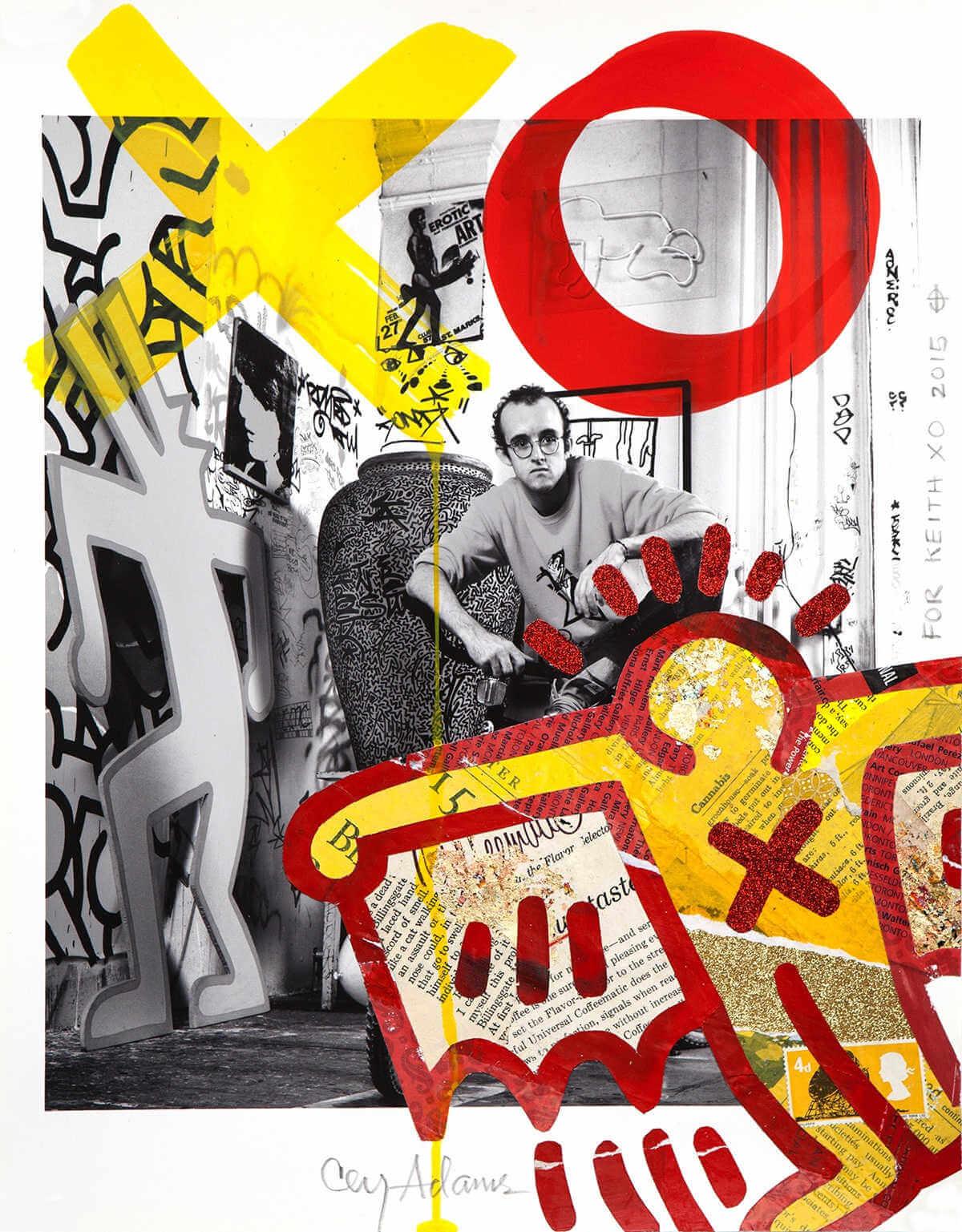Fotografía de Keith Haring por Janette Beckman & Cey Adams
