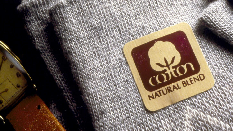 Branding de Cotton natural blend creado por Walter Landor