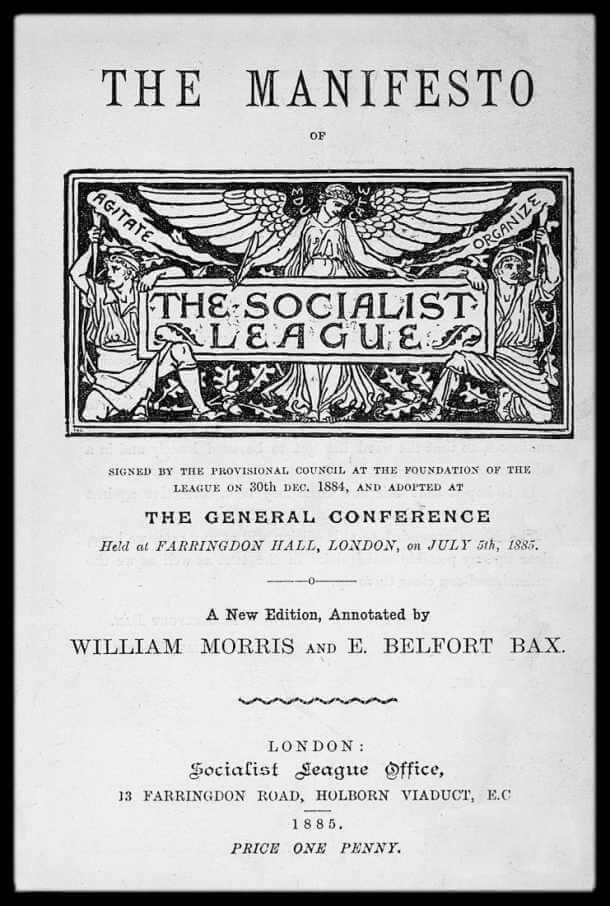 Manifiesto de la liga socialista de william morris y Beltfort Hax