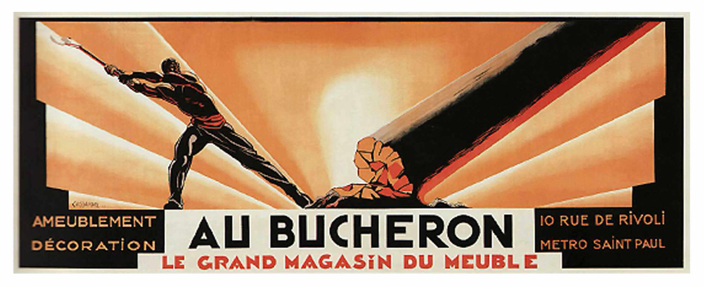 Cartel ilustración Boucheron de AM Cassandre