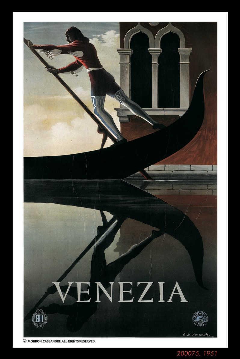 Cartel de Venezia creado por AM cassandre