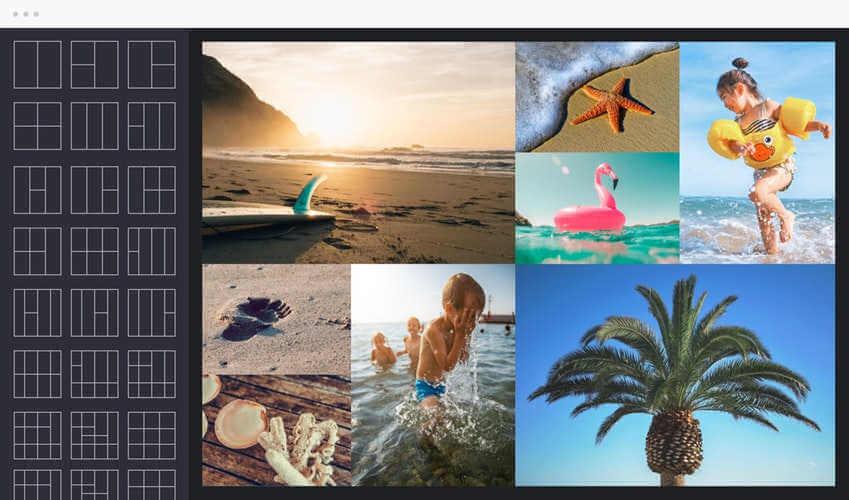 Selector de mosaico de Befunky, editor de fotografías online