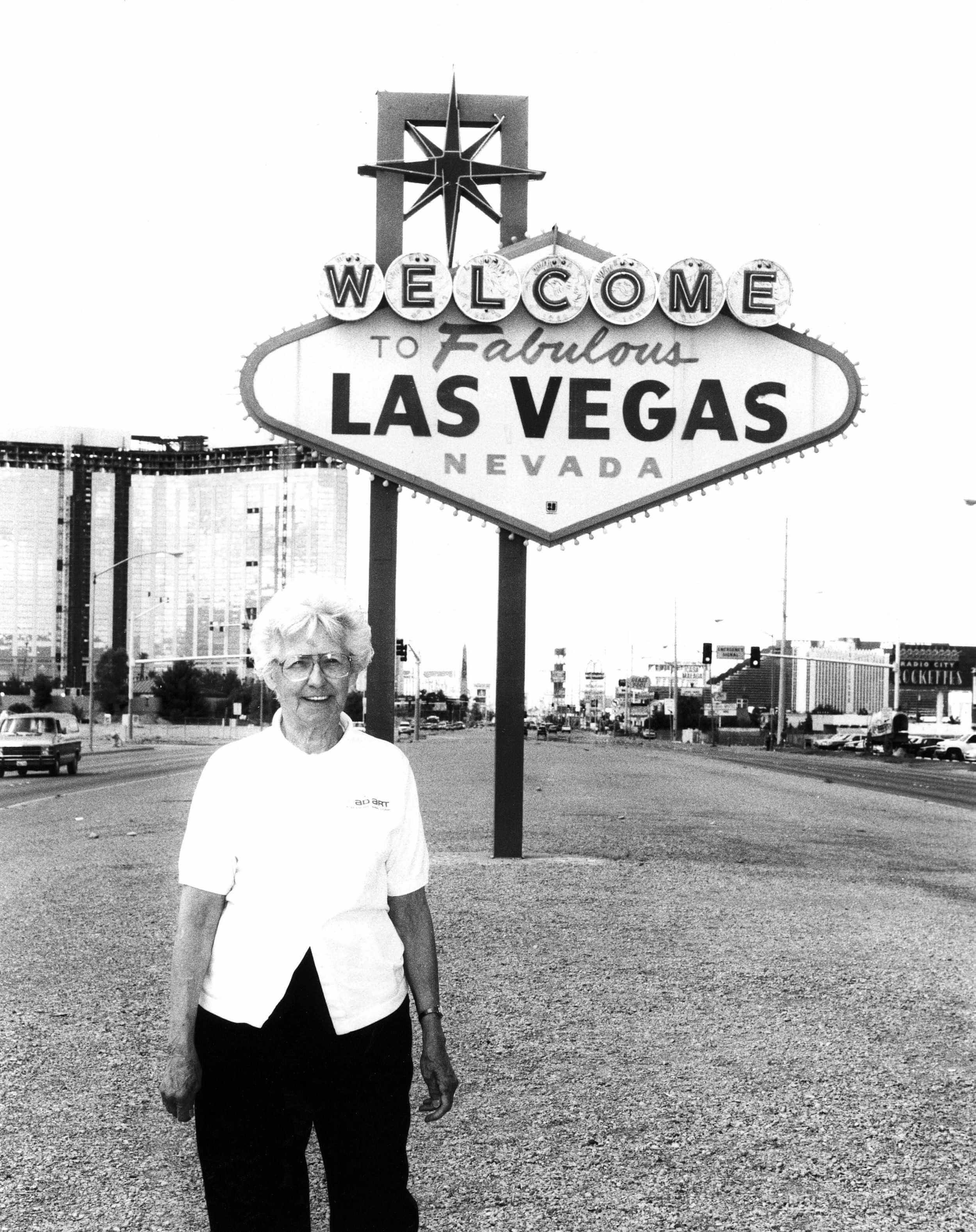 Betty willis creadora del cartel de Welcome to fabulous las vegas