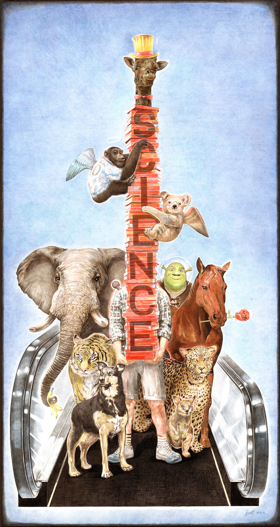 collage animales y shrek zhao na