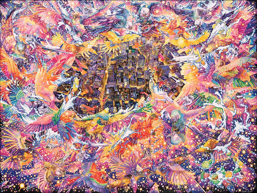 composiciones surrealistas zhao na city sky