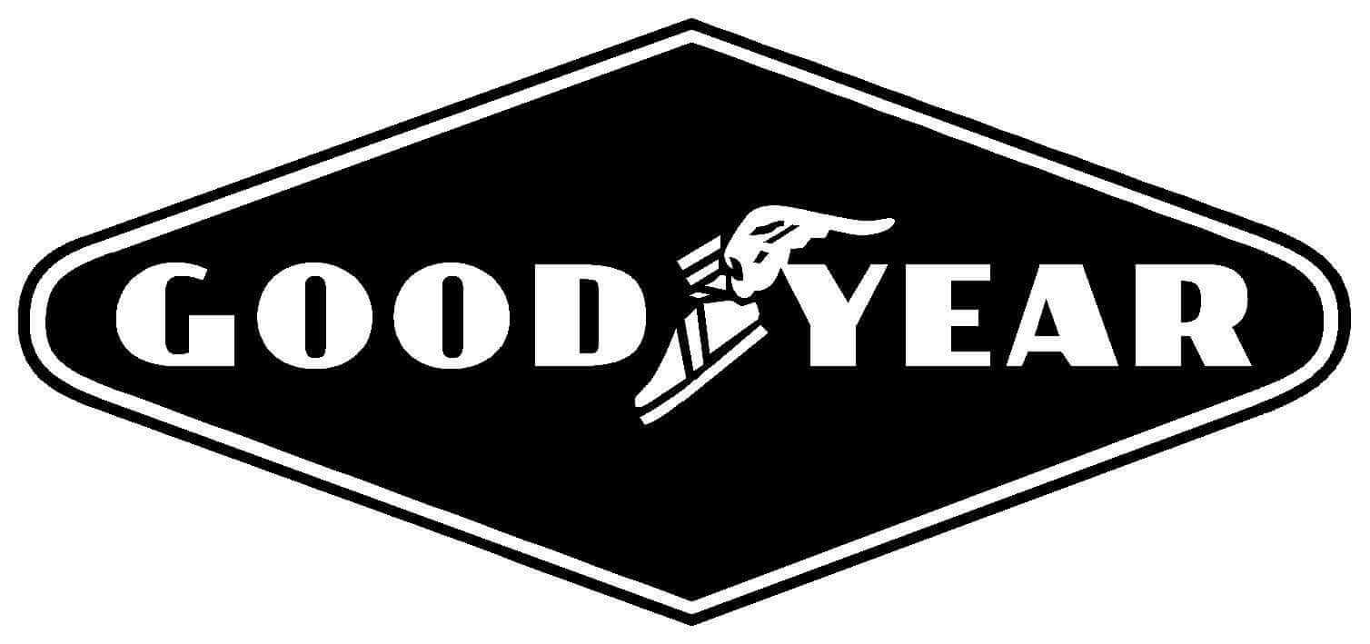 Logo Goodyear diamante redondeado