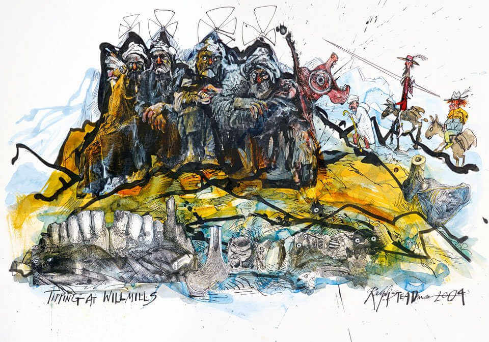 Ilustracion de Ralph Steadman para la revista The Independent