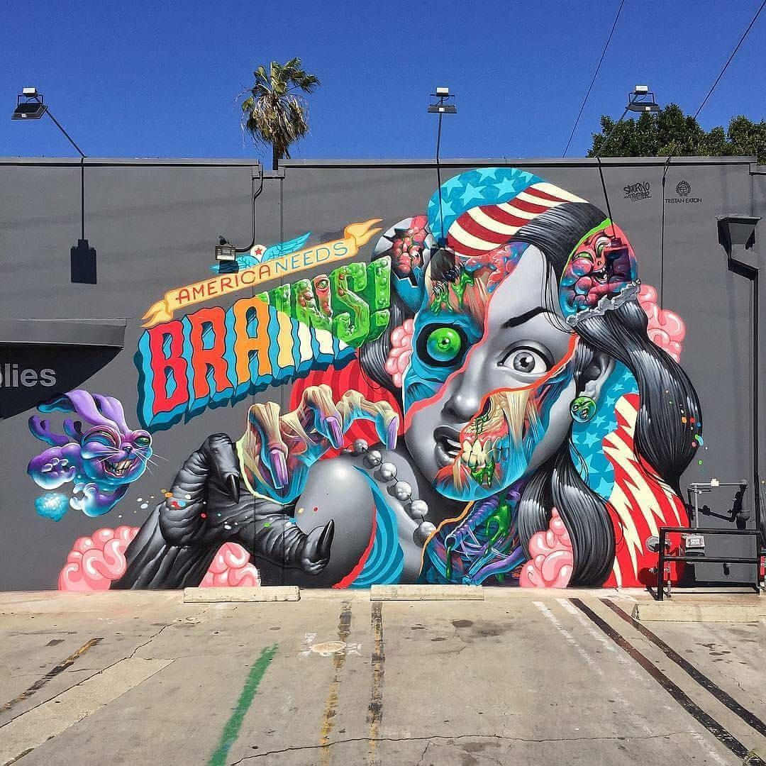 America needs branins graffiti de Tristan Eaton