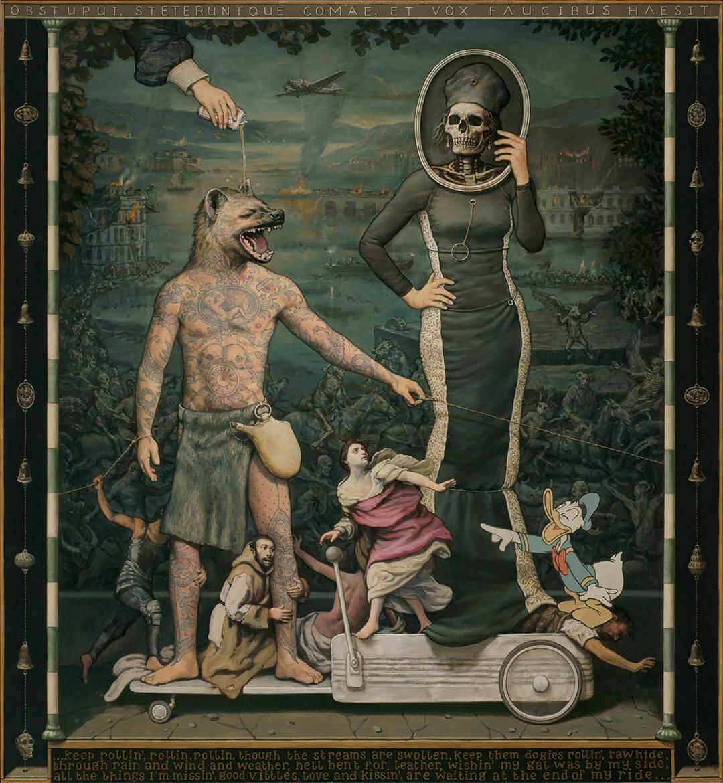 pintura al oleo la muerte y pero