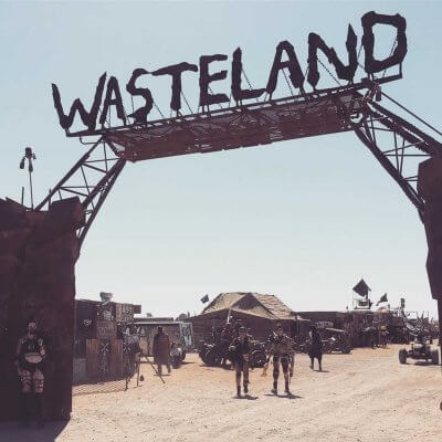 Entrada al recinto del wasteland weekend