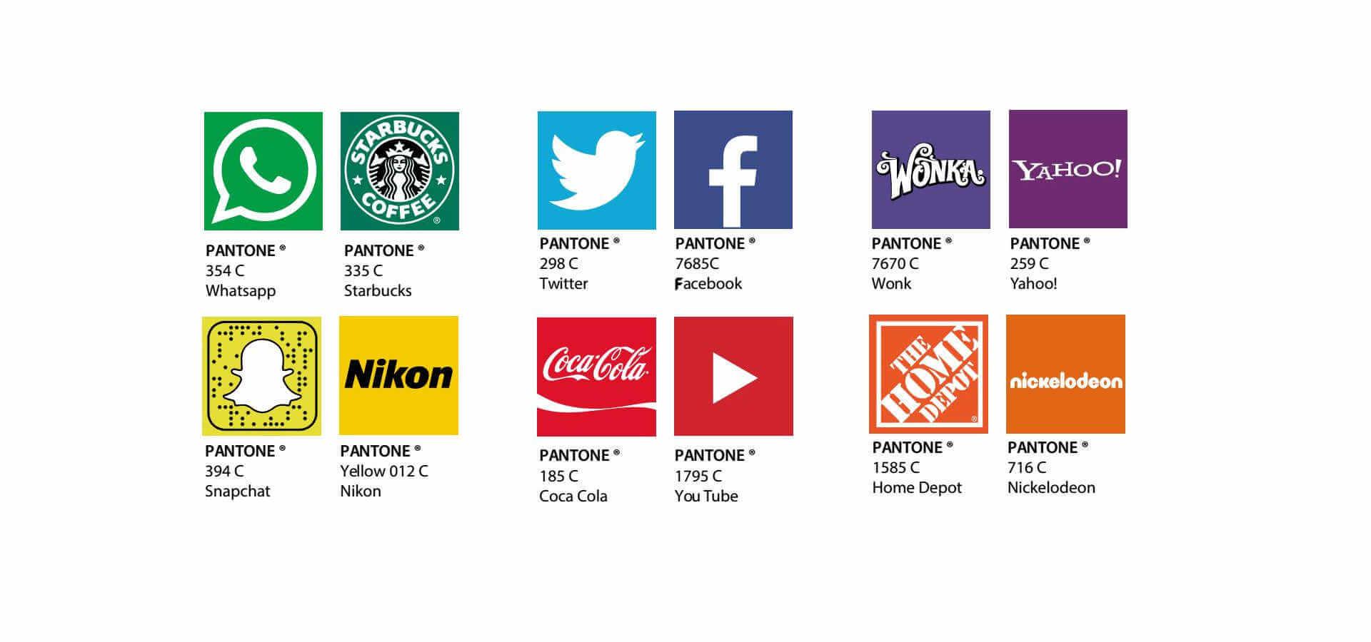 Colores pantone de logos famosos