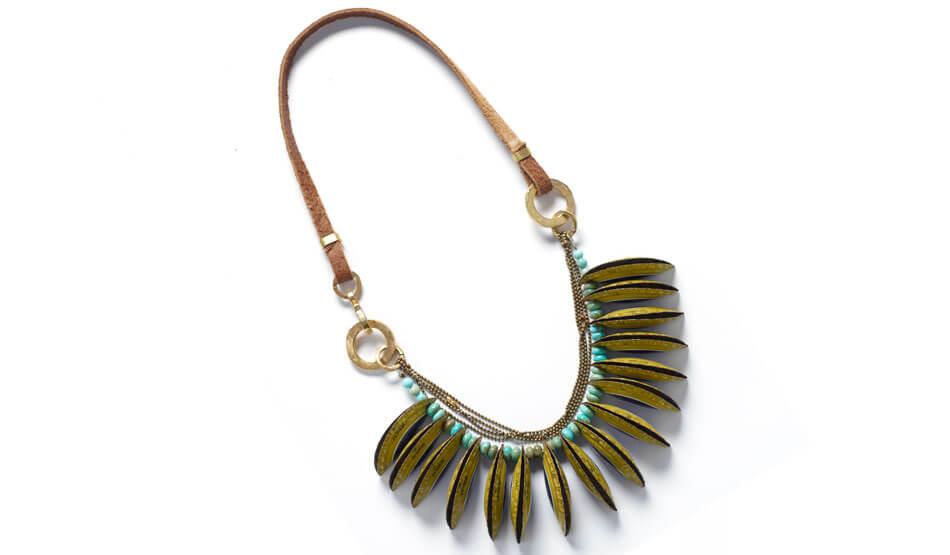 collar étnico metal precioso
