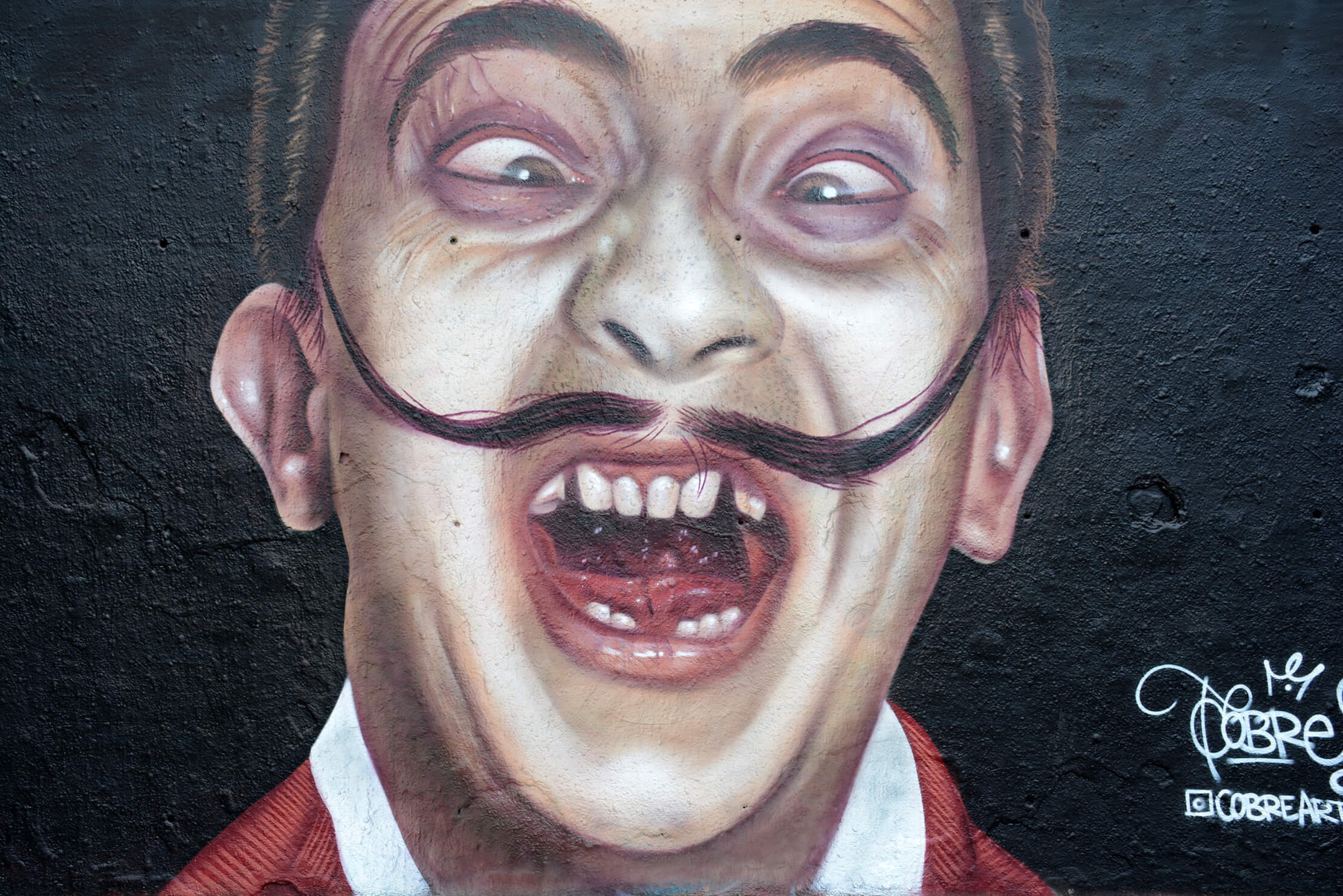 mural de salvador Dalí por cobre