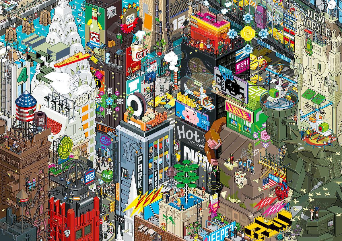 New york en pixel art