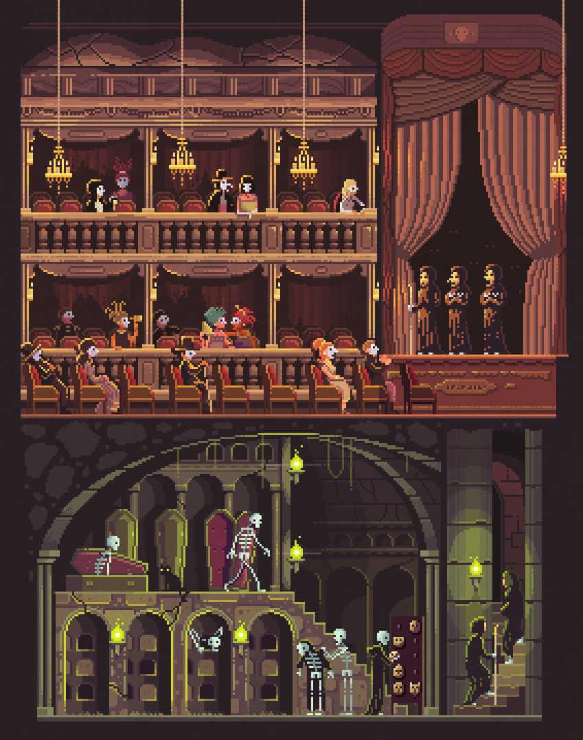 Opera en pixel art de octavi navarro