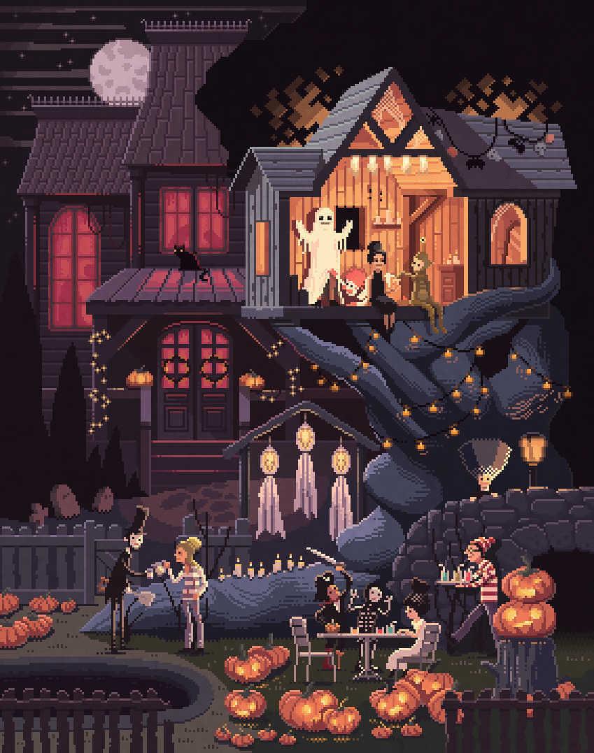 Halloween en pixel art poroctavi navarro