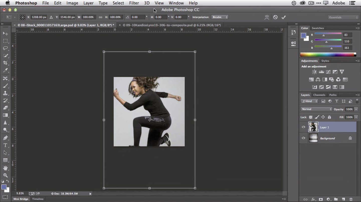 iNTERFACE DE ADOBE PHOTOSHOP