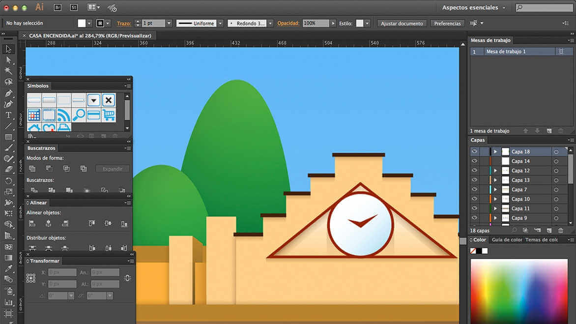 Interface de Adobe Illustrator