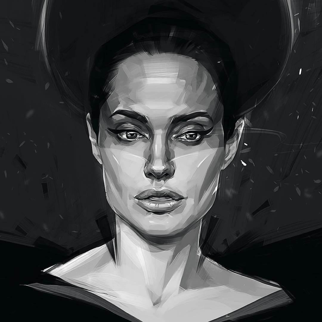 Caricatura de celebridades Angelina