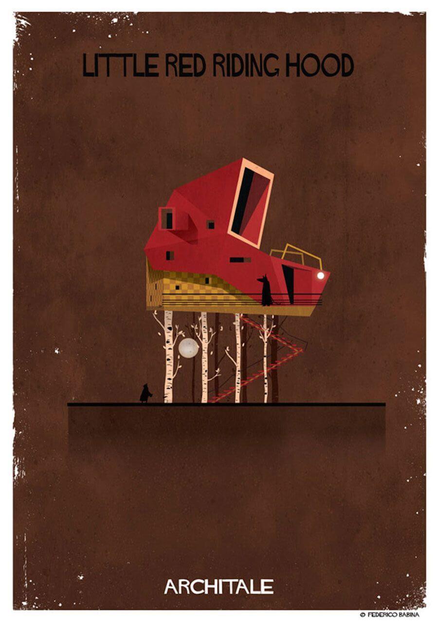 arquitectura onírica casa caperucita roja