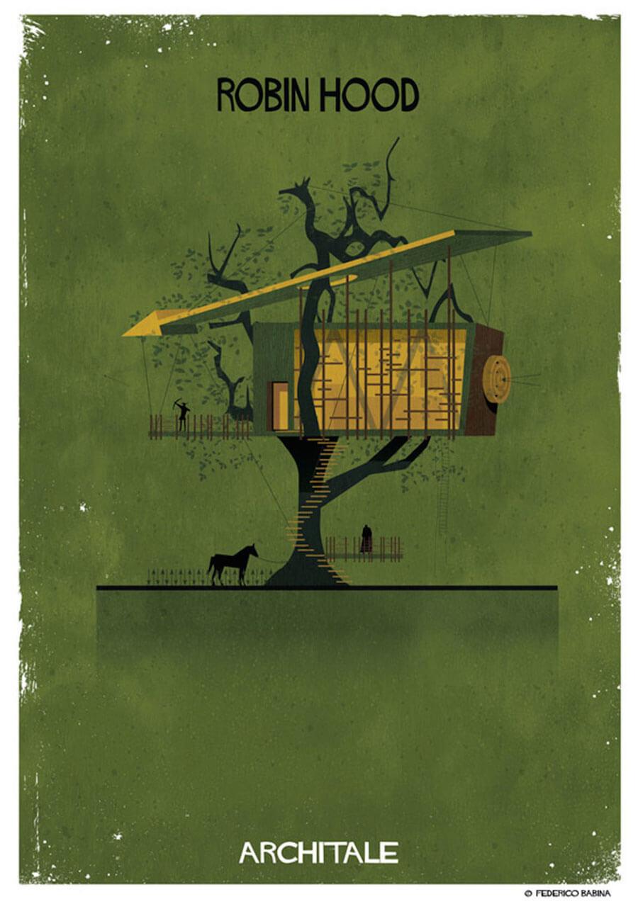 arquitectura onírica casa robin hood