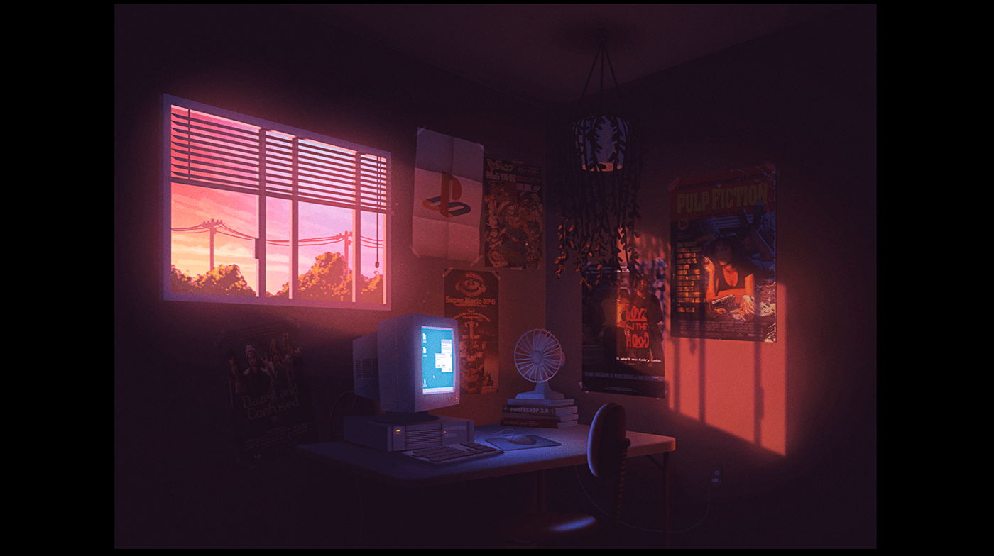 room digital art aaron campbell
