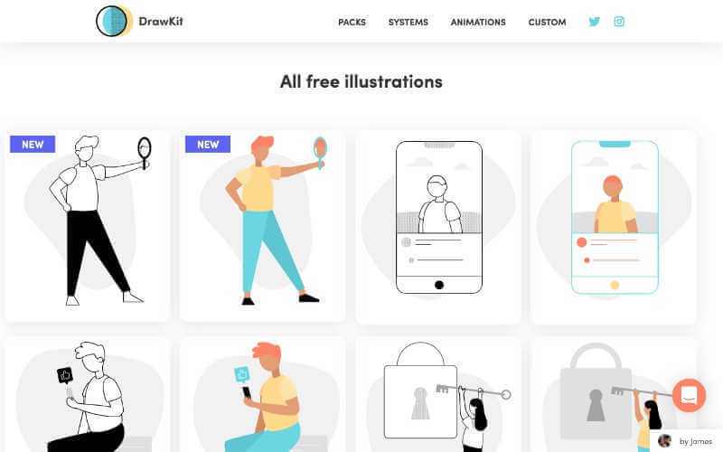drawkit, ilustraciones gratuitas