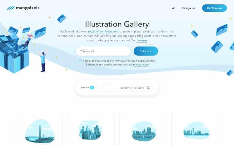 manypixels web de recursos graficos gratuitos