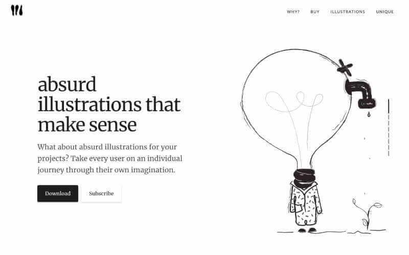 Absurd design ilustraciones absurdas gratuitas