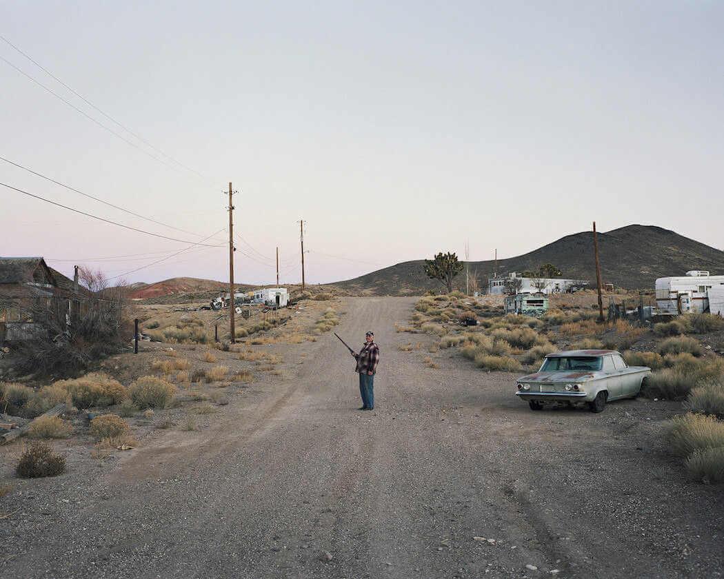 Pueblo abandonado en el oeste de america