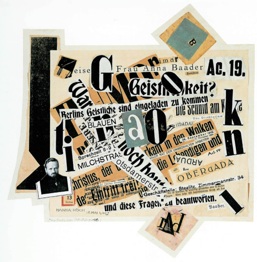 JOHANNES BAADER COLLAGE PALABRAS