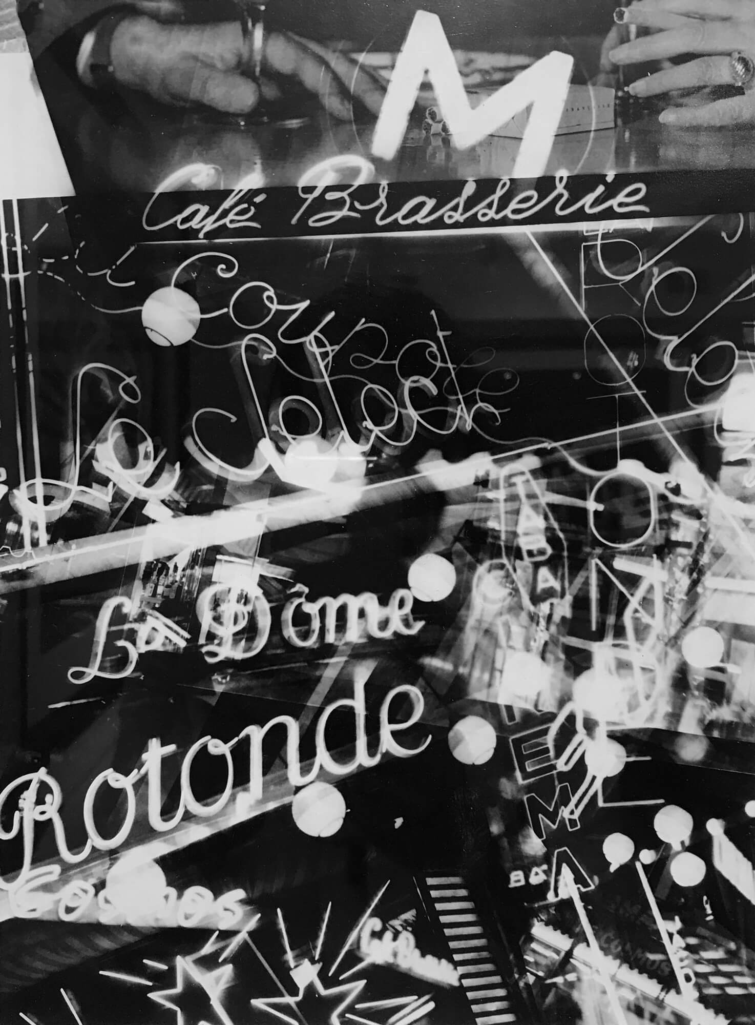 MAN RAY COLLAGE MONTAGE OF PARIS CAFE