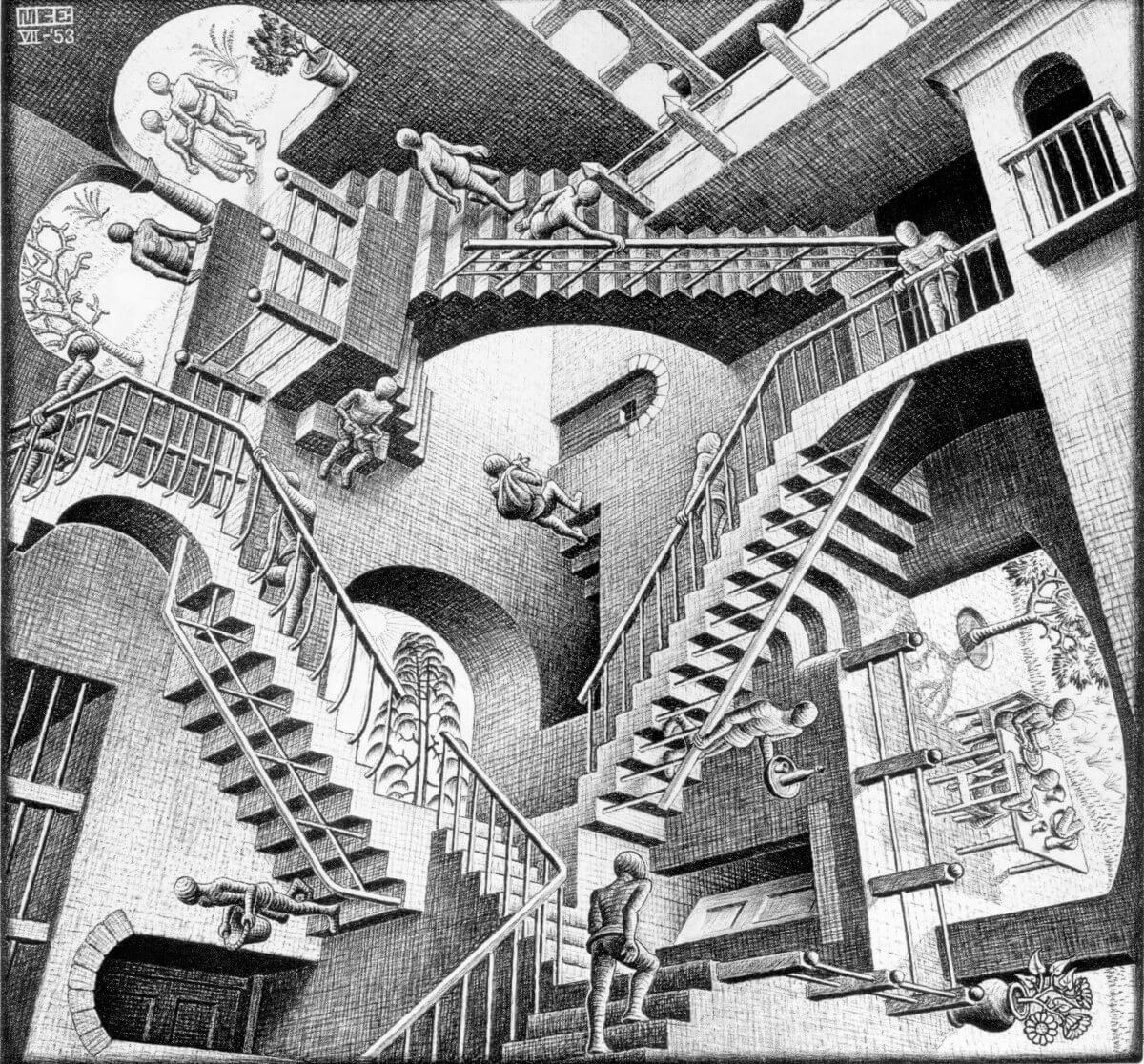MC ESCHER IMAGENES IMPOSIBLES
