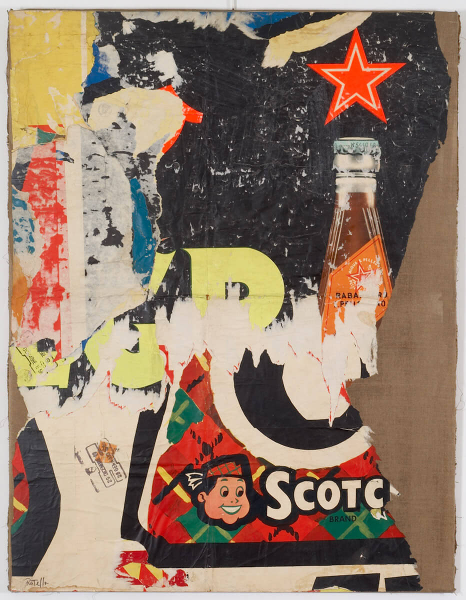 MIMMO ROTELLA COLLAGE COTCH BRAND 1958 - 59