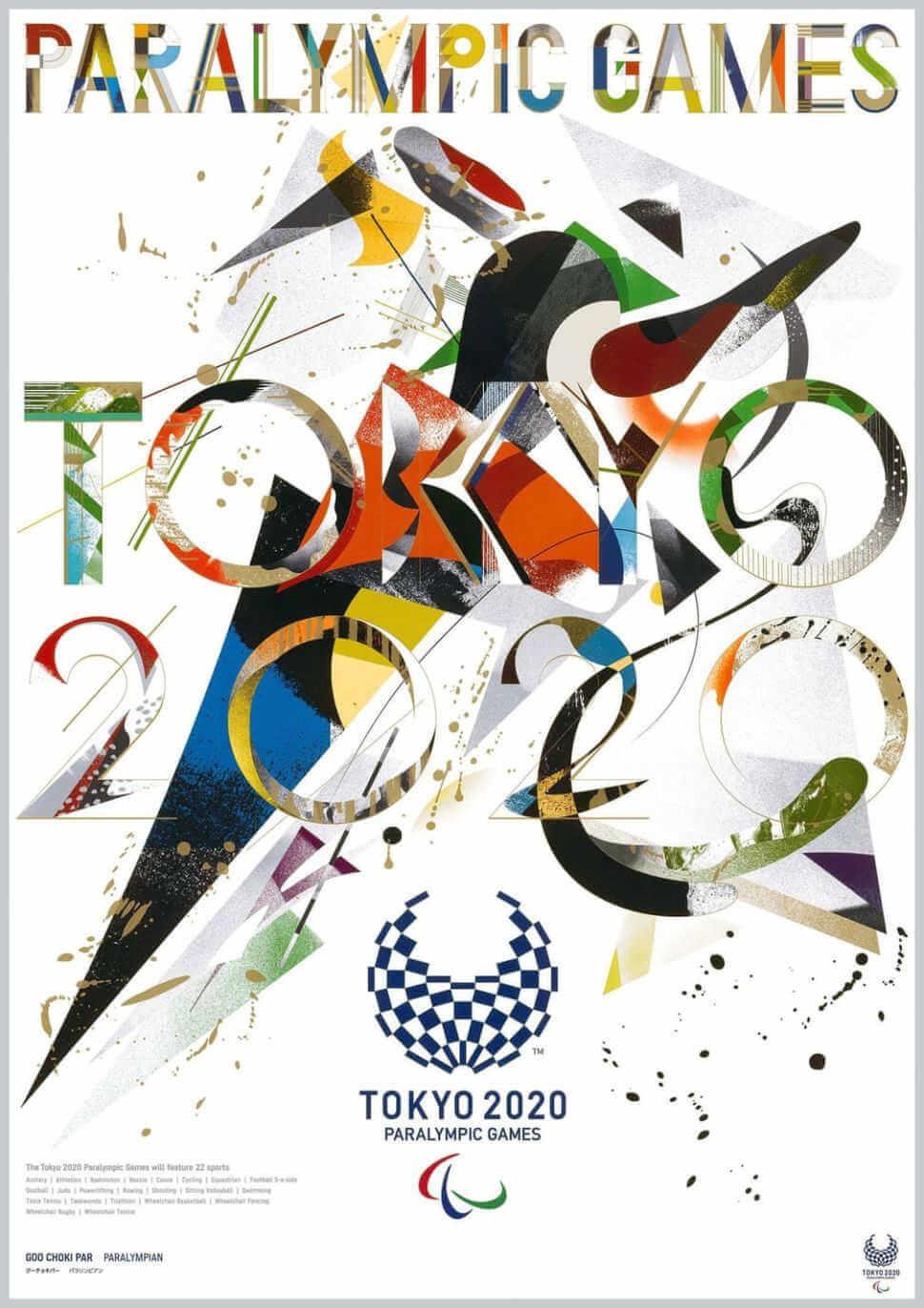 Cartel de los juegos paralimpicos de tokio 2020 creado por GOO CHOKI PAR