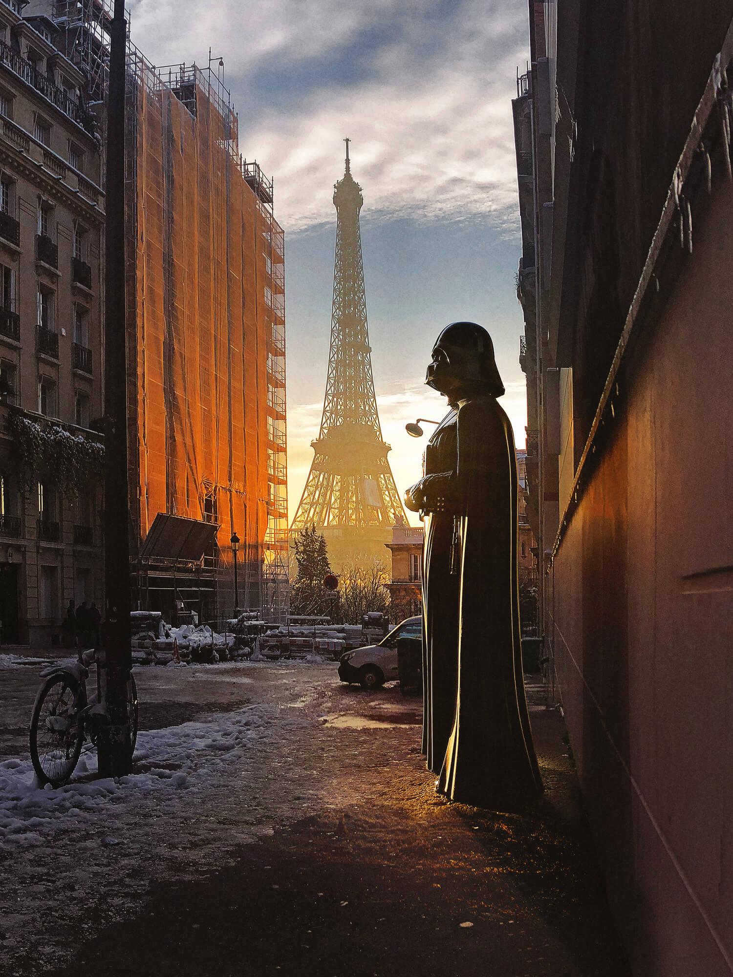 Escena Star Wars París Darth Vader torre Eiffel