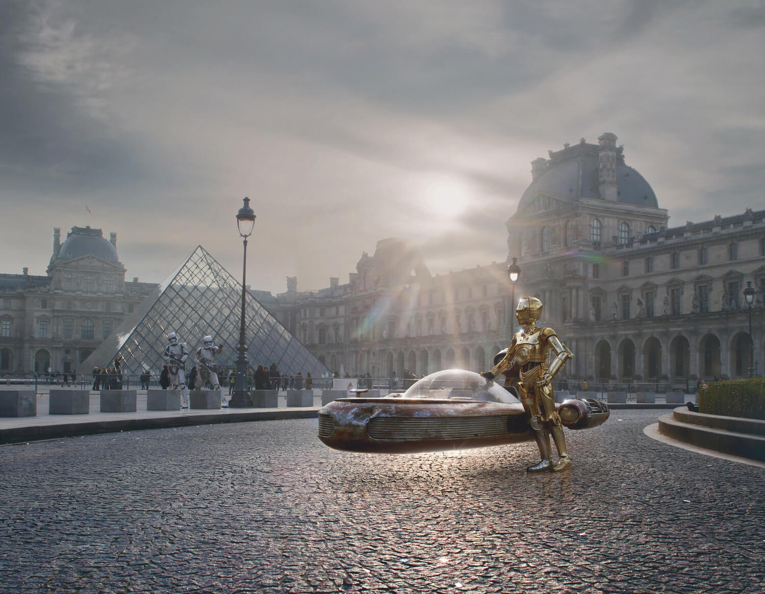 c3po en Paris fotomontaje