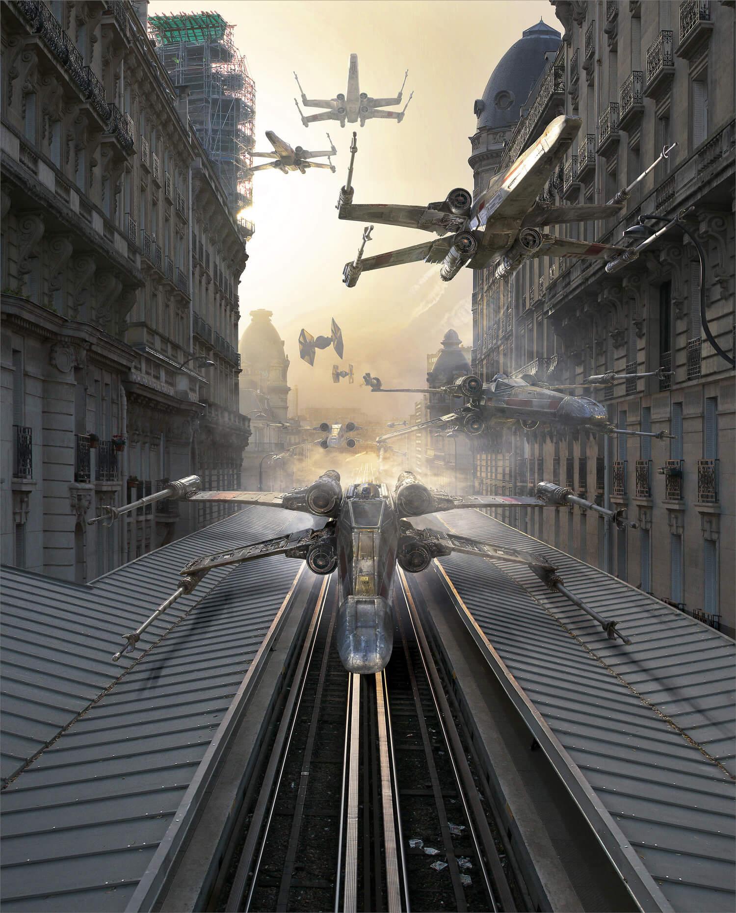 Escena de Star Wars en París