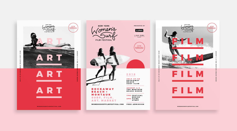 woman surf film festival poster shanty sparrow 2018