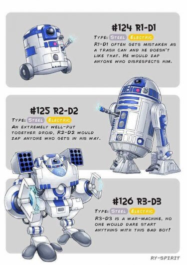Pokewars, pokemon y star wars r2d2