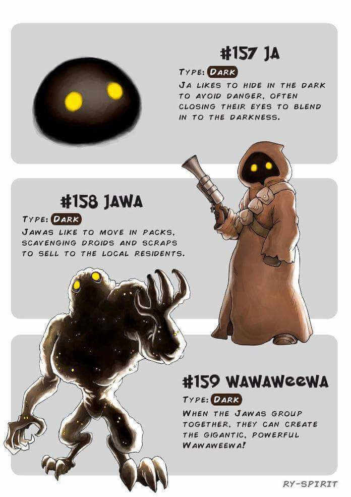 Poke wars, star wars y pokemon jawa